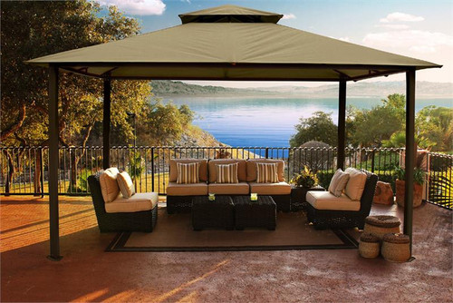 Paragon Outdoor Kingsbury 11x14 Gazebo with Sand Top