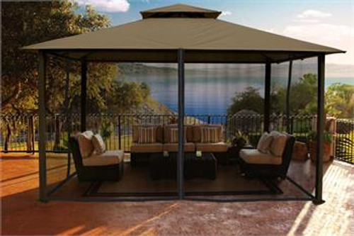 Paragon Outdoor Kingsbury 11x14 Gazebo with Sand Top & Mosquito Netting