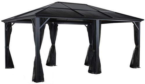 Sojag Meridien 12x16 Hard Top Gazebo with Mosquito Netting