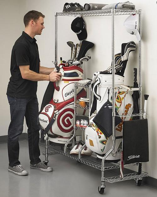 SafeRacks Deluxe Golf Equipment Organizer
