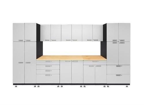 Hercke 9-Piece Powder Coated Garage Cabinet System