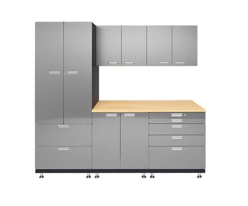 Hercke 6-Piece Stainless Steel Garage Cabinet System