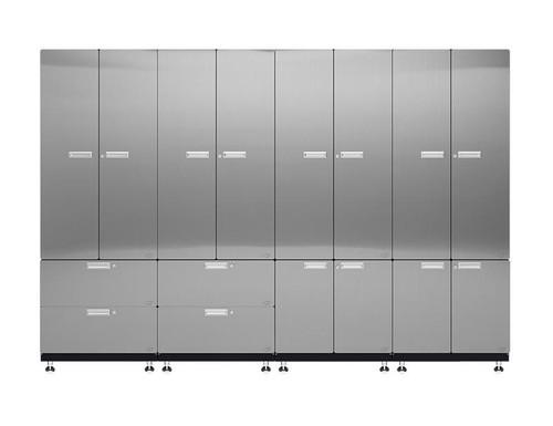 Hercke 4-Piece Stainless Steel Garage Cabinet System