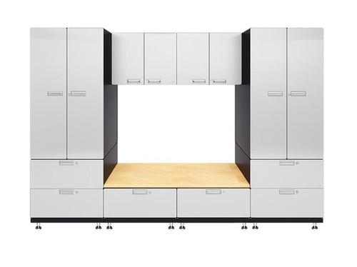 Hercke 7-Piece Powder Coated Garage Cabinet System