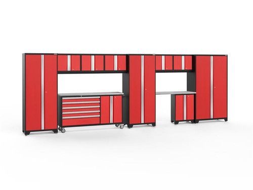 NewAge Bold 3.0 Red 11 PC Set w/Stainless Steel Worktops