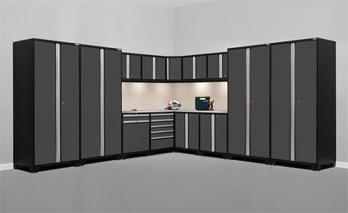 NewAge Pro Series 3.0 Grey 16 Piece Corner Set w/Stainless Steel Top & LED Lights