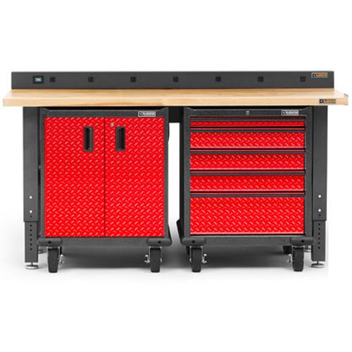 Gladiator Premier Welded Steel Red 3 Piece Workbench Set