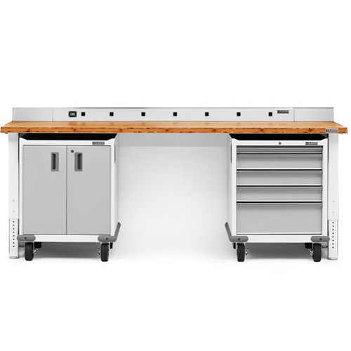 Gladiator Premier Welded Steel White 3 Piece Workbench Kit