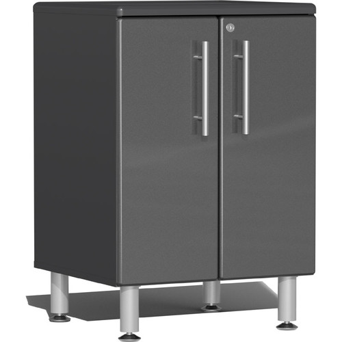 Ulti-MATE Garage 2.0 Series Grey Metallic 2-Door Base Cabinet