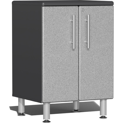 Ulti-MATE Garage 2.0 Series Silver Metallic 2-Door Base Cabinet