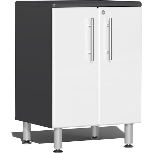 Ulti-MATE Garage 2.0 Series White Metallic 2-Door Base Cabinet