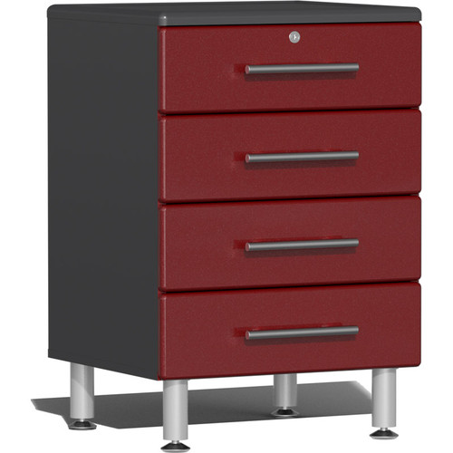 Ulti-MATE Garage 2.0 Series Red Metallic 4-Drawer Base Cabinet