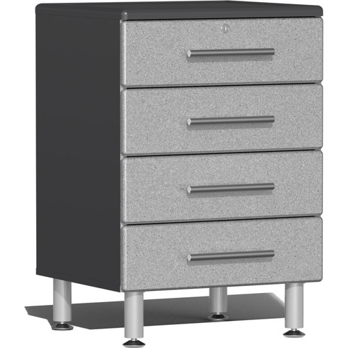 Ulti-MATE Garage 2.0 Series Silver Metallic 4-Drawer Base Cabinet