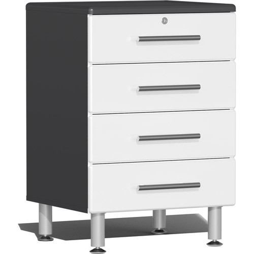 Ulti-MATE Garage 2.0 Series White Metallic 4-Drawer Base Cabinet