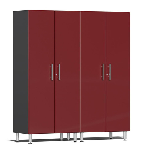 Ulti-MATE Garage 2.0 Series Red Metallic 2-Pc Tall Cabinet Kit
