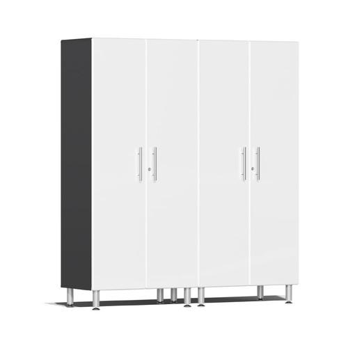 Ulti-MATE Garage 2.0 Series White Metallic 2-Pc Tall Cabinet Kit