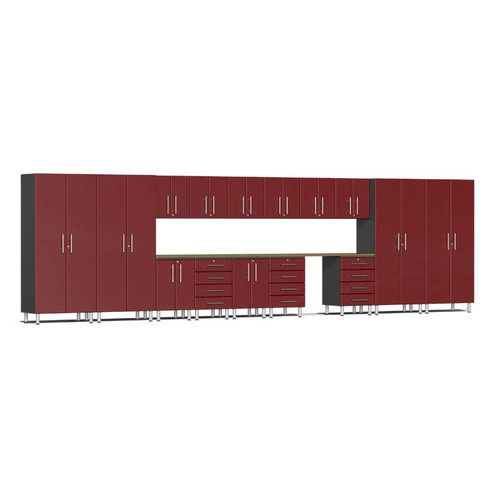 Ulti-MATE Garage 2.0 Series Red Metallic 17-Piece Super-System