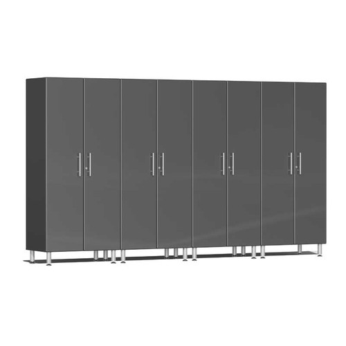 Ulti-MATE Garage 2.0 Series Grey Metallic 4-Pc Tall Cabinet Kit