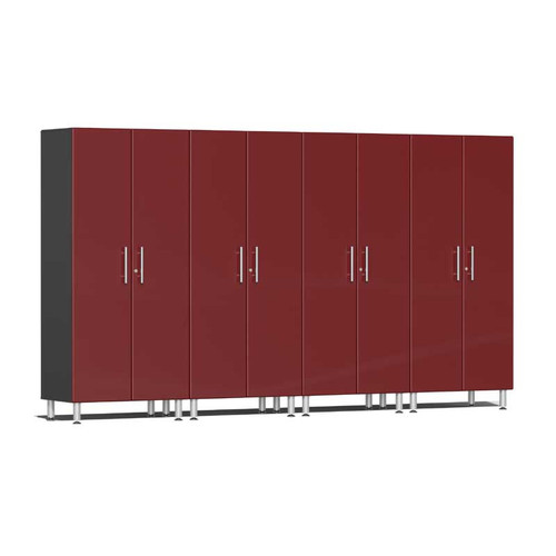 Ulti-MATE Garage 2.0 Series Red Metallic 4-Pc Tall Cabinet Kit