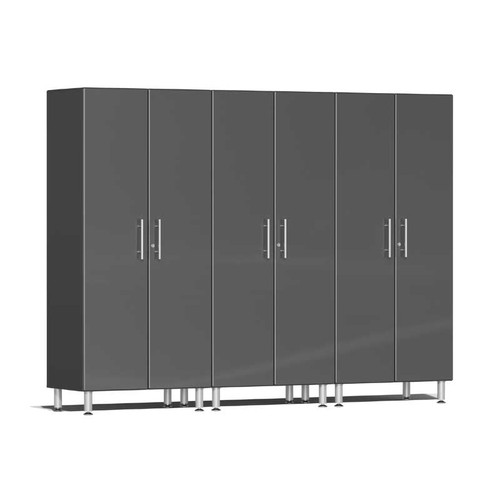Ulti-MATE Garage 2.0 Series Grey Metallic 3-Pc Tall Cabinet Kit