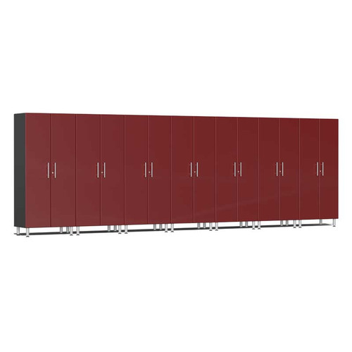 Ulti-MATE Garage 2.0 Series Red Metallic 7-Pc Tall Cabinet Kit