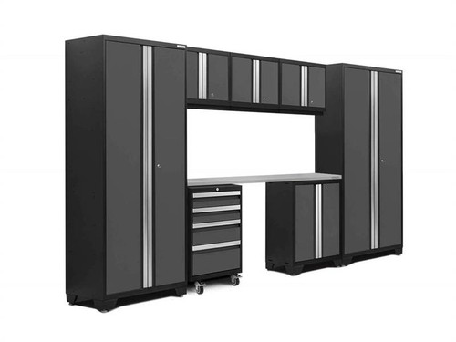 NewAge Bold 3.0 Grey 8 Piece Set w/Stainless Steel Worktop