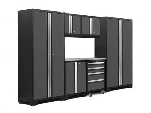NewAge Bold 3.0 Grey 7 Piece Set w/Stainless Steel Worktop