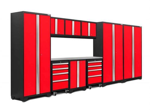 NewAge Bold 3.0 Red 10 Piece Set w/Stainless Steel Worktop