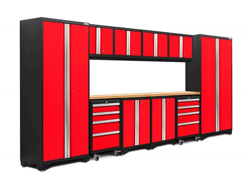 NewAge Bold 3.0 Red 12 Piece Set w/Bamboo Worktop & LED Lights