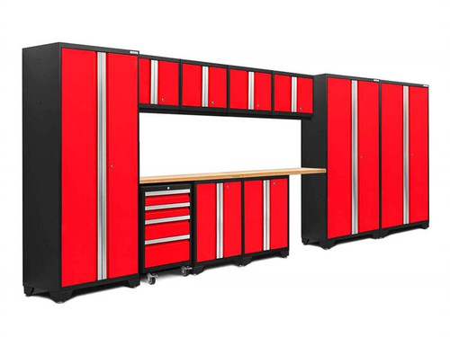 NewAge Bold 3.0 Red 12 Piece Set with Bamboo Worktop