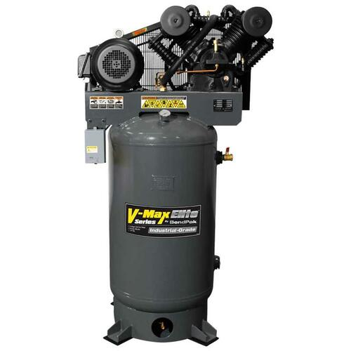 BendPak VMX-10120V-603 V-MAX Elite Air Compressor, 10 HP, 120Gallon Vertical Tank, 3 Phase