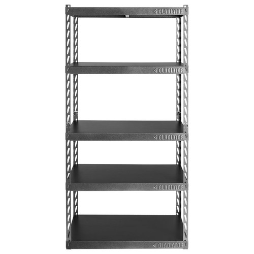 "Gladiator 36"" Wide EZ Connect Rack w/Five 18"" Deep Shelves"