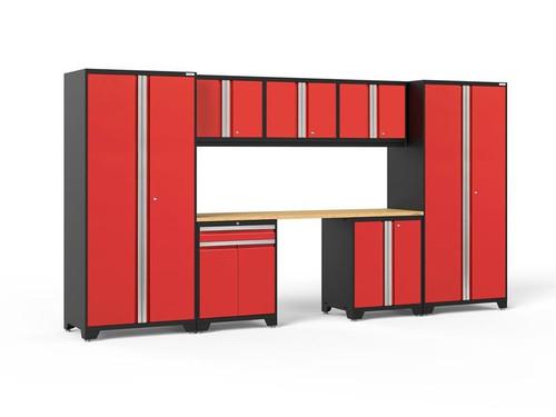 NewAge Pro Series 3.0 Red 8 PC Set w/Bamboo Worktop