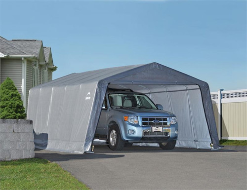 ShelterLogic Garage-in-a-Box 12 x 20 x 8 ft. Grey Cover