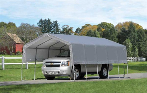 ShelterLogic 12' x 20' x 8' Peak Style Carport-in-a-Box