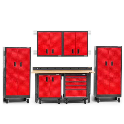 Gladiator Premier Welded Steel Red 9 Piece Set