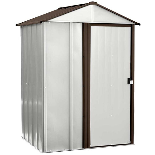 Arrow Newburgh 5 x 4 ft. Steel Storage Shed Coffee/Eggshell