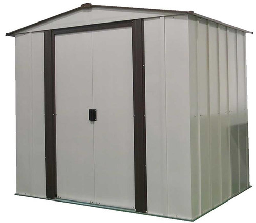 Arrow Newburgh 6 x 5 ft. Steel Storage Shed Coffee/Eggshell