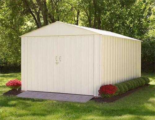 Arrow Commander 10 x 15 ft. Steel Storage Building Eggshell