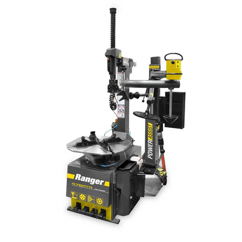 Ranger R76ATR Tilt-Back Tire Changer with Assist Tower - Yellow/Gray