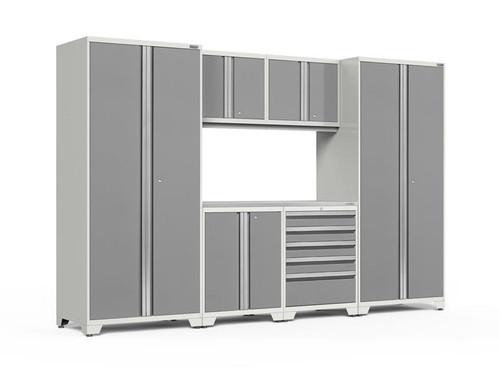 NewAge Pro Series 3.0 White w/Platinum Door 7 Piece Set w/Stainless Steel Top