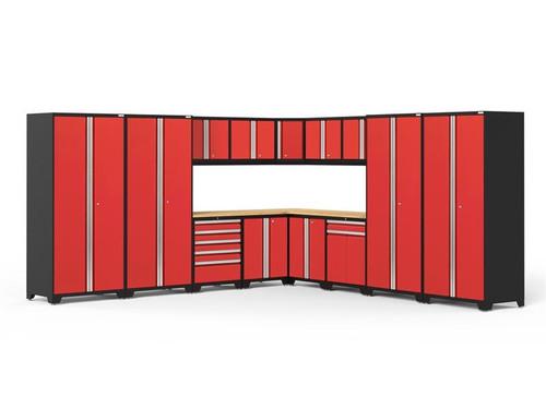 NewAge Pro Series 3.0 Red 16 Piece Corner Set w/Bamboo Top
