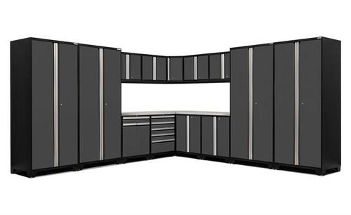 NewAge Pro Series 3.0 Grey 16 Piece Corner Set w/Stainless Steel Top