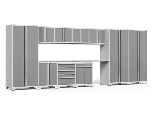 NewAge Pro Series 3.0 White w/Platinum Door 12 Piece Set w/Stainless Steel Worktop