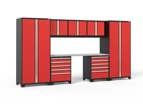 NewAge Pro Series 3.0 Red 8 Piece Set w/Stainless Steel Worktop