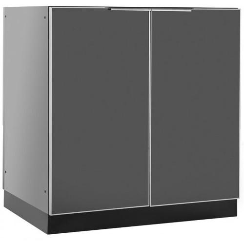 """NewAge Aluminum Slate 32""""W x 23""""D 2-Door Cabinet"""
