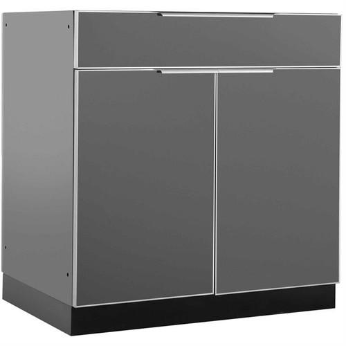 "NewAge Aluminum Slate 32""W x 23""D Bar Cabinet"