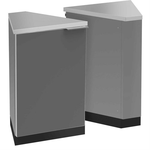 NewAge Aluminum Slate 45-Degree Corner Cabinet (Set of 2)