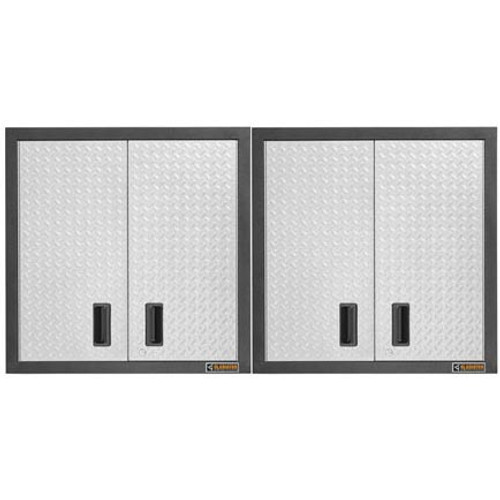 Gladiator Premier Welded Steel 2 Piece Wall Cabinet Set