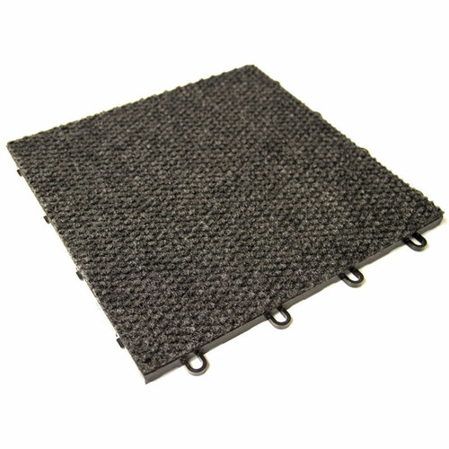 "RaceDeck Snap-Carpet 12"" x 12"" - Charcoal"